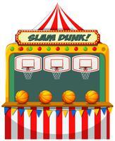 Slam Dunk-Karnevalsstand vektor