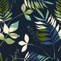 Abstrakt sömlöst mönster med löv. Vektor bakgrund för olika yta.