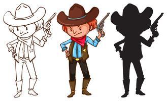 Cowboy vektor
