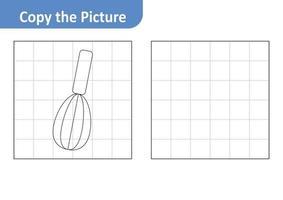 Kopieren Sie das Bildarbeitsblatt für Kinder, Schneebesen-Vektor vektor