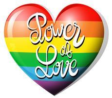 Liebeskraft und Regenbogenherz vektor