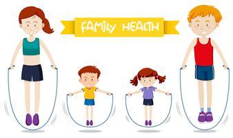 En familj träning tillsammans