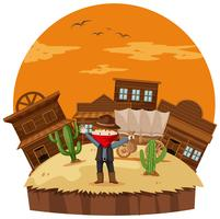 Rånare på cowboystaden vektor