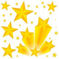 Bakgrundsdesign med gula stjärnor vektor