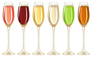 Champagne i högt glas