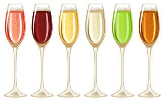 Champagner im hohen Glas vektor