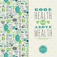 Hälsosam livsstil vektor illustration.