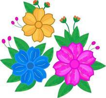 Valini dekoratives florales Vektordesign vektor