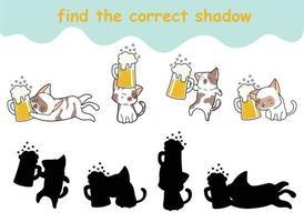 Finde das richtige Schattenblatt vektor