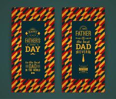 Glückliche Vatertags-Karte im Retrostil. vektor