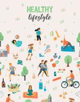 Hälsosam livsstil. V vektor