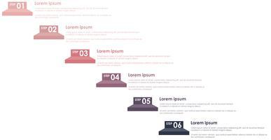 Information Graphic Steps Pastellfarbe vektor