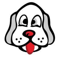 niedliche Hundekarikaturillustration vektor