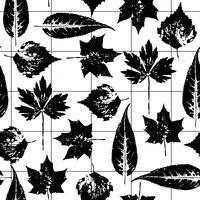 Abstrakt höst sömlös mönster med löv.