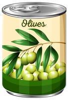 Eine Dose Olive vektor