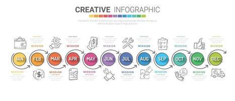 Infografiken den ganzen Monat Planer Design und Präsentationsgeschäft vektor
