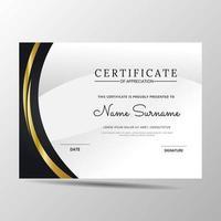 Zertifikatvorlage moderne Anerkennungsvorlage vektor