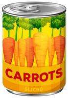 Eine Dose geschnittene Karotten