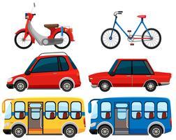 Set med olika fordon