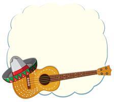 En mexikansk mall med gitarr vektor