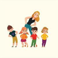 Kindergarten-Symbol flache Design-Vektor-Ilustration vektor