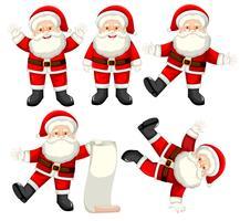 Set Weihnachtsmann-Zeichen vektor