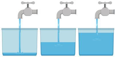 Leitungswasser in Eimern vektor