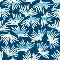 Vektor hav sömlösa mönster med handdragen texturer