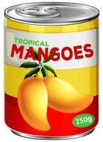 Eine Dose Mangosirup vektor