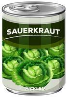 Eingelegtes Sauerkraut