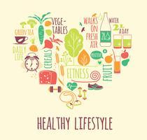 Vektorillustration des gesunden Lebensstils. vektor