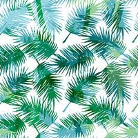 Seamless exotiskt mönster med tropiska palmblad.