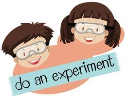 Phrase for do und experimentiere mit tragender Maske für Jungen und Mädchen