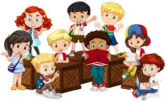 Gruppe von internationalen Kindern vektor