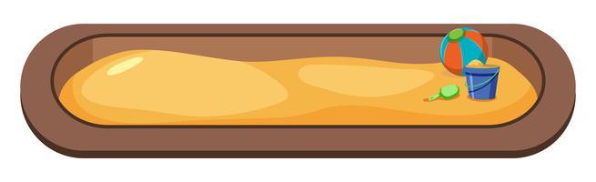 stort sandputkoncept