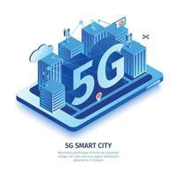 5g Smart City-Kompositionsvektorillustration vektor