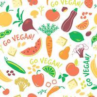 Vektor sömlöst mönster med grönsaker.