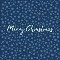 Weihnachtsgrußkarte mit Schneeflocken und Schriftzug vektor