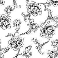 Tyg sömlöst mönster med barock prydnad.