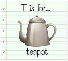 Der Flashcard-Buchstabe T steht für Teekanne