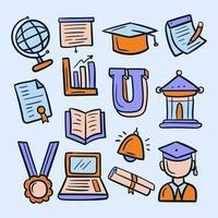 Sammlung von Universitätssymbolen vektor