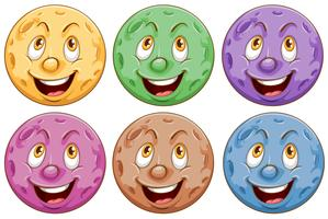 Planeten mit Gesichtern vektor