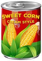 Eine Dose Mais vektor