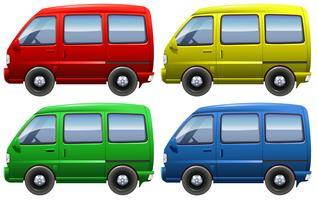 Sats med skåpbilar vektor