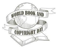 Weltbuch- und Copyright-Tag vektor