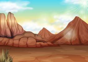 Szene mit Feld der Wüste vektor