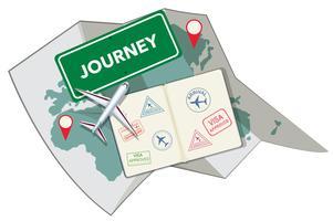 Passstempel und Karte vektor