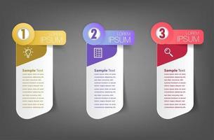 moderne Textfeld-Vorlage, Infografik-Banner vektor