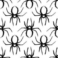 Spinne nahtlose Muster schwarz und weiß vektor