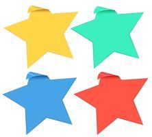 Set Sternaufkleber in vier Farben